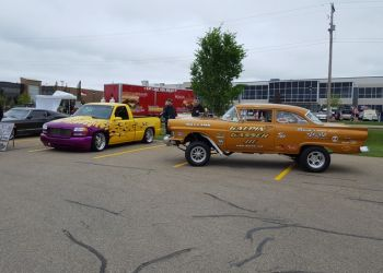1957 Ford Gasser At Outdoor Display