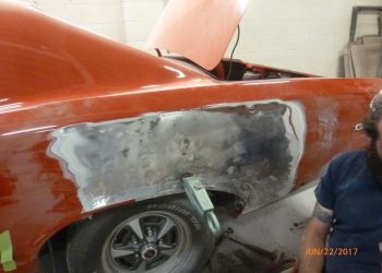 1966 GTO Quarter Damage