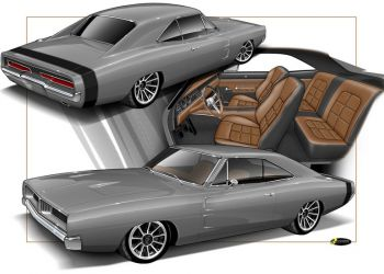 1969 Charger Rendering