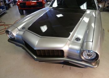 1970 Camaro Carbon Fiber Hood SICK HID Lights And Ring Brothers Hood Pins