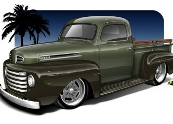 1948 Ford Truck Rendering